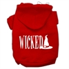 Mirage Pet Products Wicked Screen Print Pet Hoodies Red Size S (10)
