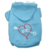 Mirage Pet Products XOXO Screen Print Pet Hoodies Baby Blue Size Lg (14)