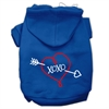 Mirage Pet Products XOXO Screen Print Pet Hoodies Blue Size Lg (14)