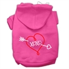 Mirage Pet Products XOXO Screen Print Pet Hoodies Bright Pink Size Med (12)