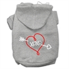Mirage Pet Products XOXO Screen Print Pet Hoodies Grey Size XL (16)