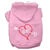 Mirage Pet Products XOXO Screen Print Pet Hoodies Light Pink Size Med (12)