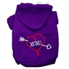 Mirage Pet Products XOXO Screen Print Pet Hoodies Purple Size Sm (10)