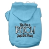 Mirage Pet Products Yes Im a Bitch Just not Yours Screen Print Pet Hoodies Baby Blue Size Sm (10)