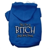 Mirage Pet Products Yes Im a Bitch Just not Yours Screen Print Pet Hoodies Blue Size XL (16)