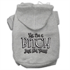 Mirage Pet Products Yes Im a Bitch Just not Yours Screen Print Pet Hoodies Grey Size XL (16)