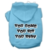 Mirage Pet Products You Come, You Sit, You Stay Screen Print Pet Hoodies Baby Blue Size Lg (14)