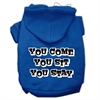 Mirage Pet Products You Come, You Sit, You Stay Screen Print Pet Hoodies Blue Size Sm (10)