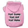 Mirage Pet Products You Come, You Sit, You Stay Screen Print Pet Hoodies Light Pink Size XS (8)