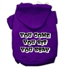 Mirage Pet Products You Come, You Sit, You Stay Screen Print Pet Hoodies Purple Size XS (8)