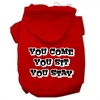 Mirage Pet Products You Come, You Sit, You Stay Screen Print Pet Hoodies Red Size XS (8)