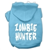 Mirage Pet Products Zombie Hunter Screen Print Pet Hoodies Baby Blue Size XS (8)