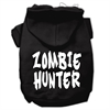 Mirage Pet Products Zombie Hunter Screen Print Pet Hoodies Black Size XS (8)