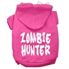 Mirage Pet Products Zombie Hunter Screen Print Pet Hoodies Bright Pink Size XXXL(20)