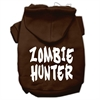 Mirage Pet Products Zombie Hunter Screen Print Pet Hoodies Brown Size Sm (10)
