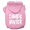 Mirage Pet Products Zombie Hunter Screen Print Pet Hoodies Light Pink Size XXXL(20)