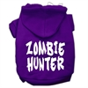 Mirage Pet Products Zombie Hunter Screen Print Pet Hoodies Purple Size XXXL(20)