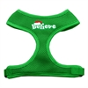 Mirage Pet Products Believe Screen Print Soft Mesh Harnesses  Emerald Green Large