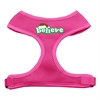 Mirage Pet Products Believe Screen Print Soft Mesh Harnesses  Pink Small