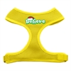 Mirage Pet Products Believe Screen Print Soft Mesh Harnesses  Yellow Medium