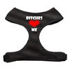 Mirage Pet Products Bitches Love Me Soft Mesh Harnesses Black Small