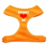 Mirage Pet Products Bitches Love Me Soft Mesh Harnesses Orange Medium