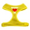 Mirage Pet Products Bitches Love Me Soft Mesh Harnesses Yellow Medium