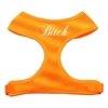 Mirage Pet Products Bitch Soft Mesh Harnesses Orange Medium
