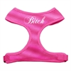 Mirage Pet Products Bitch Soft Mesh Harnesses Pink Small