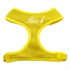 Mirage Pet Products Bitch Soft Mesh Harnesses Yellow Large
