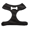 Mirage Pet Products Bone Design Soft Mesh Harnesses Black Small