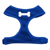 Mirage Pet Products Bone Design Soft Mesh Harnesses Blue Extra Large