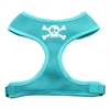 Mirage Pet Products Skull Crossbones Screen Print Soft Mesh Harness Aqua Small