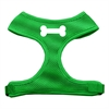 Mirage Pet Products Bone Design Soft Mesh Harnesses Emerald Green Medium