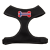 Mirage Pet Products Bone Flag Norway Screen Print Soft Mesh Harness Black Small