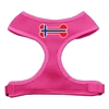 Mirage Pet Products Bone Flag Norway Screen Print Soft Mesh Harness Pink Small