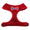 Mirage Pet Products Bone Flag Norway Screen Print Soft Mesh Harness Red Extra Large