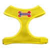 Mirage Pet Products Bone Flag Norway Screen Print Soft Mesh Harness Yellow Medium