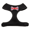 Mirage Pet Products Bone Flag UK Screen Print Soft Mesh Harness Black Small