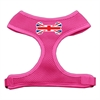 Mirage Pet Products Bone Flag UK Screen Print Soft Mesh Harness Pink Small