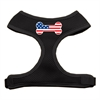 Mirage Pet Products Bone Flag USA Screen Print Soft Mesh Harness Black Small