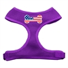 Mirage Pet Products Bone Flag USA Screen Print Soft Mesh Harness Purple Small