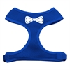 Mirage Pet Products Bow Tie Screen Print Soft Mesh Harness Blue Extra Large