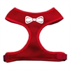 Mirage Pet Products Bow Tie Screen Print Soft Mesh Harness Red Small