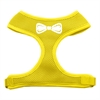 Mirage Pet Products Bow Tie Screen Print Soft Mesh Harness Yellow Medium