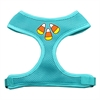 Mirage Pet Products Candy Corn Design Soft Mesh Harnesses Aqua Large