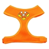 Mirage Pet Products Candy Corn Design Soft Mesh Harnesses Orange Small
