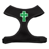 Mirage Pet Products Celtic Cross Screen Print Soft Mesh Harness Black Extra Large