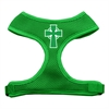 Mirage Pet Products Celtic Cross Screen Print Soft Mesh Harness Emerald Green Medium