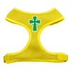 Mirage Pet Products Celtic Cross Screen Print Soft Mesh Harness Yellow Medium